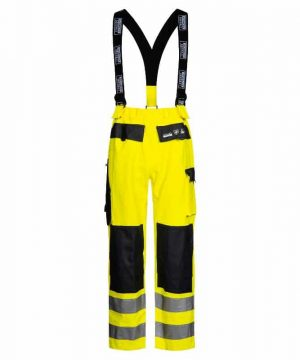 Lyngsoe heavyweight hi vis rain bib trousers
