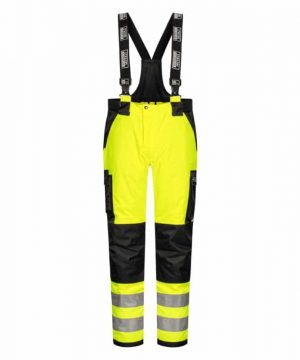Lyngsoe breathable hi vis waterproof work trousers yellow