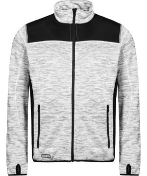 Lyngsoe knitted jacket light grey and black with thumb holes