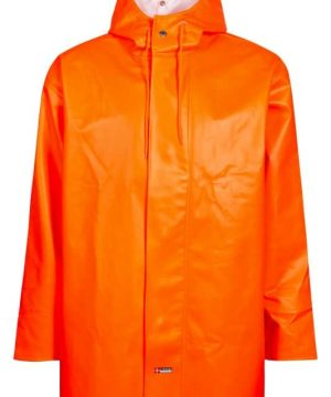 Lyngsoe heavy pvc rain jacket orange