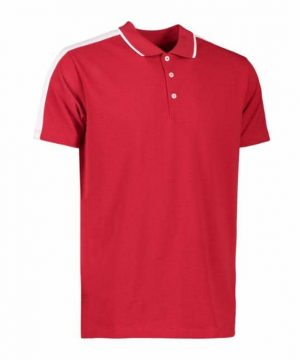 Id men's polo shirt with contrast stripe on collar