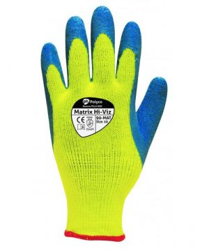 polyco hi vis thermal grip glove